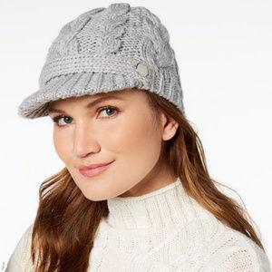 Michael Kors Beanie Brim Grey Hat NWOT